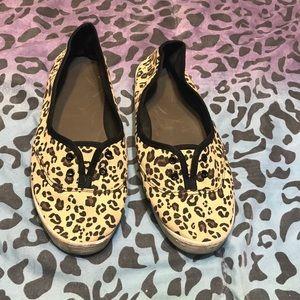 Women's size 10 Leopard Print loafers